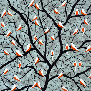 Over the branches - Painting by Sumit Mehndiratta