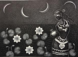 Padmini Digital Print by Bhaskar Lahiri,Folk