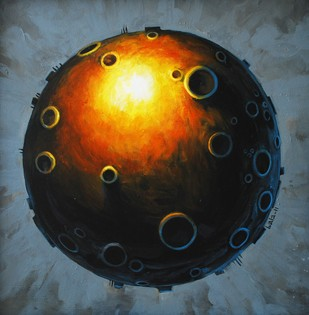 Planet - Painting by Balasubramanian Rajasekaran
