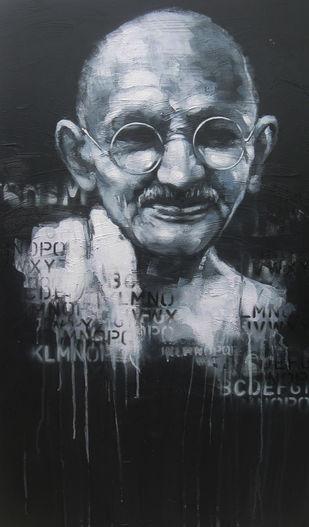 Impression of Gandhi 2 Artwork By Anindya Mukherjee
