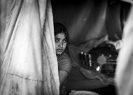 Peep by Jayati Saha, Image Photography, Digital Print on Paper, Gray color