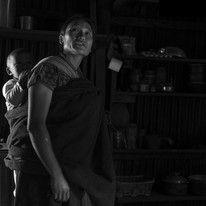 Mother and Child by Jayati Saha, Image Photography, Digital Print on Paper, Black color