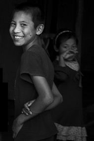 The Smile by Jayati Saha, Image Photography, Digital Print on Paper, Black color