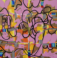 Metropolitan Fantasy by Prabhinder Lall, Geometrical Painting, Acrylic & Ink on Canvas, Brown color