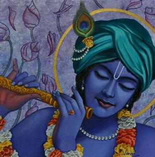 Krishna  - Painting by Vani Chawla