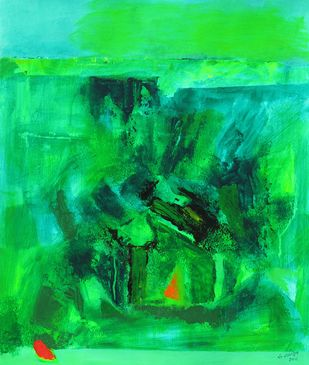 The Green Pastures - Painting by Sachida Nagdev