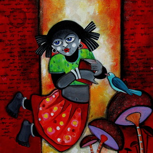 Bornokumari - Painting by Sharmi Dey