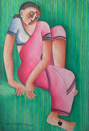 Untitled - Painting by Thota Laxminarayana
