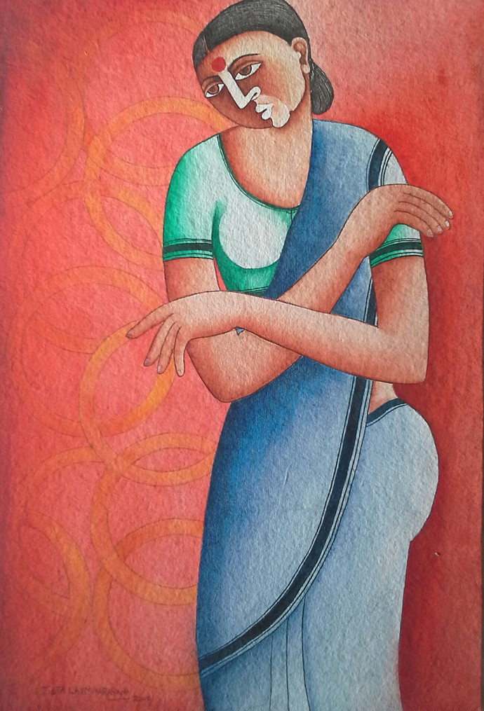 Untitled Digital Print by Thota Laxminarayana,Traditional