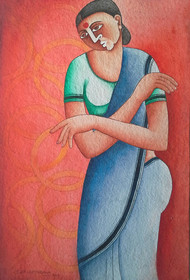 Untitled Digital Print by Thota Laxminarayana,Traditional