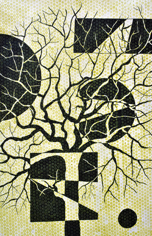 Inverted treescape - Painting by Sumit Mehndiratta