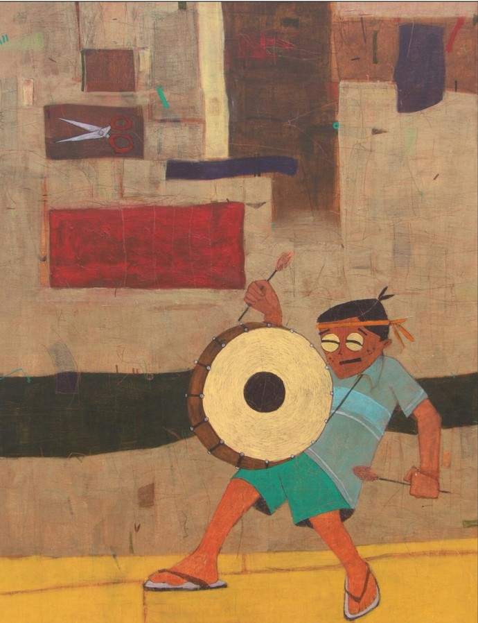 Lungada - Painting by Himanshu Lodwal