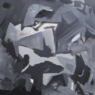 Untitled 3 by Abheeshek Salunke, Abstract Painting, Acrylic on Canvas, Gray color