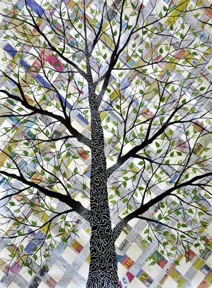 Likhit Vriksh by Sumit Mehndiratta, , , Gray color