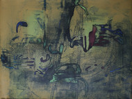 Untitled by Rajesh Ambalkar, Abstract Painting, Acrylic on Canvas, Green color