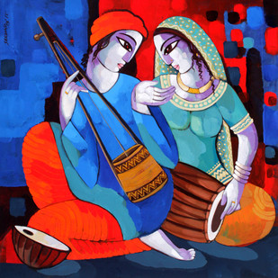 Music 3 - Painting by Sekhar Roy