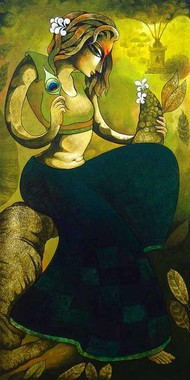 Bansidhar 64 acrylic on canvas 48x24 inches.jpg