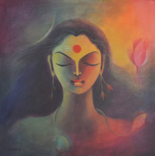 Ardhanarishwar - Painting by Manisha Raju