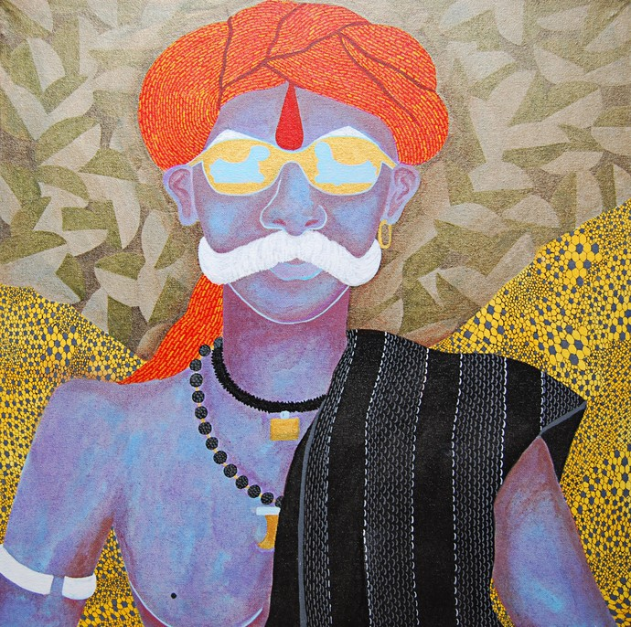 Returning from Jatra - Painting by Sukka Sunder