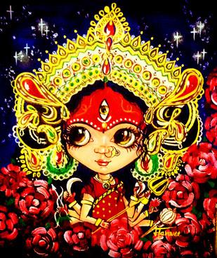 Durga - Painting by Manvee Singh