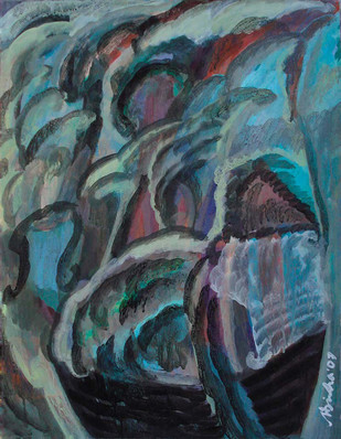 Mindscape-14 - Painting by Nilotpal Sinha