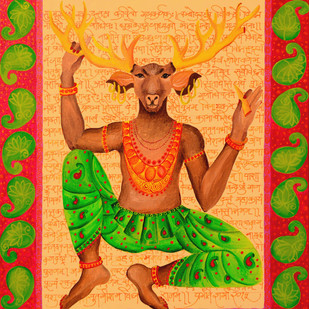 Hiranya Yogi Digital Print by Pragati Sharma Mohanty,Traditional