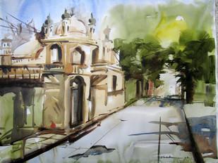 kolkata -3 - Painting by Abak Kundu