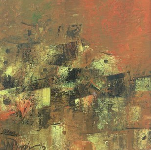 Village of my Dreams_15 - Painting by M Singh