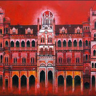 CST - Chhatrapati Shivaji Terminus Digital Print by Suresh Gulage,Art Deco