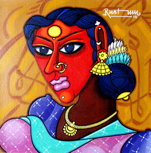 Sakunthala - Painting by M D Rustum