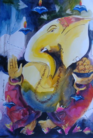 Ganesha - Painting by ANIRBAN SETH