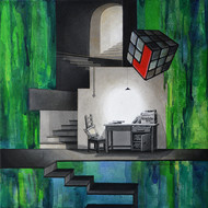 LifeCorner01_15 by Shrikant Kolhe, Conceptual Painting, Acrylic on Canvas, Green color