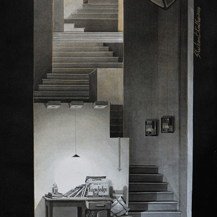 LifeCorner17_14 by Shrikant Kolhe, Abstract, Conceptual Painting, Acrylic on Canvas, Gray color