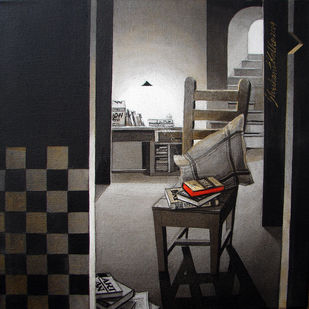 LifeCorner07_14 - Painting by Shrikant Kolhe