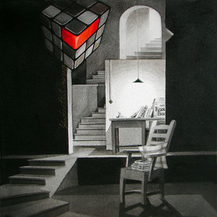 LifeCorner21_13 by Shrikant Kolhe, Conceptual Painting, Acrylic on Canvas, Gray color