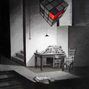 LifeCorner 23_13 by Shrikant Kolhe, Realism Painting, Acrylic on Canvas, Gray color