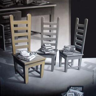 KhurShee05_13 by Shrikant Kolhe, Conceptual Painting, Acrylic on Paper, Gray color