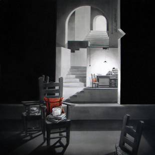 Life Corner 13_13 by Shrikant Kolhe, Painting, Acrylic on Canvas, Gray color
