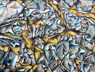 Autum blues - Painting by Lakshmi Prakash