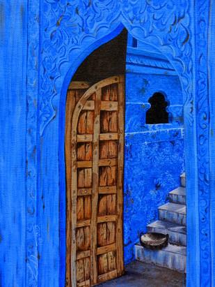 blueing 1# - Painting by Lakshmi Prakash