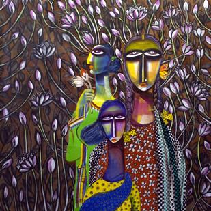 3 Sisters - Painting by Arun K Mishra