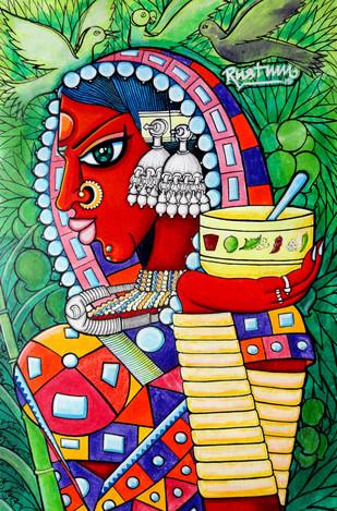 Vanadevatha - Painting by M D Rustum