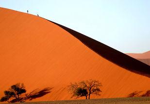 Treks by Tazim Jaffer, Image Photography, Digital Print on Paper, Orange color