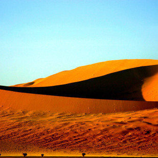 Kalahari Sands by Tazim Jaffer, Image Photography, Digital Print on Paper, Cyan color