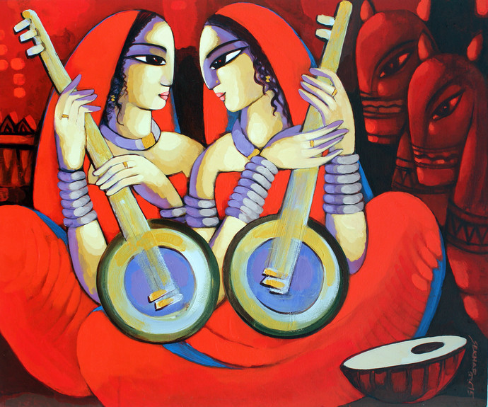 Music Digital Print by Sekhar Roy,Decorative