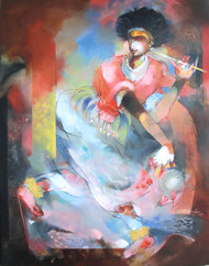 The Folk Dancer - Gorava 01 Digital Print by Devendra.M.Badiger,Decorative