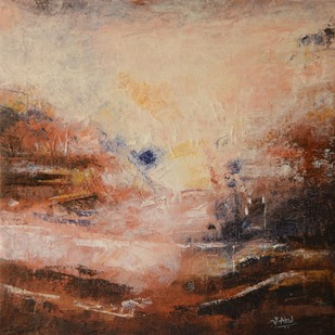 Abstract - 6 by Atul Virkar, Abstract Painting, Acrylic on Canvas, Brown color