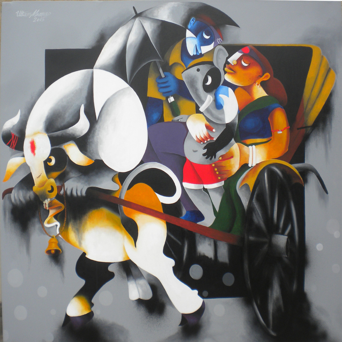 Journey by Uttam Manna, , , Gray color