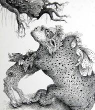 Real Human by Pradnya Khandgonkar, Fantasy Drawing, Pen on Paper, Gray color