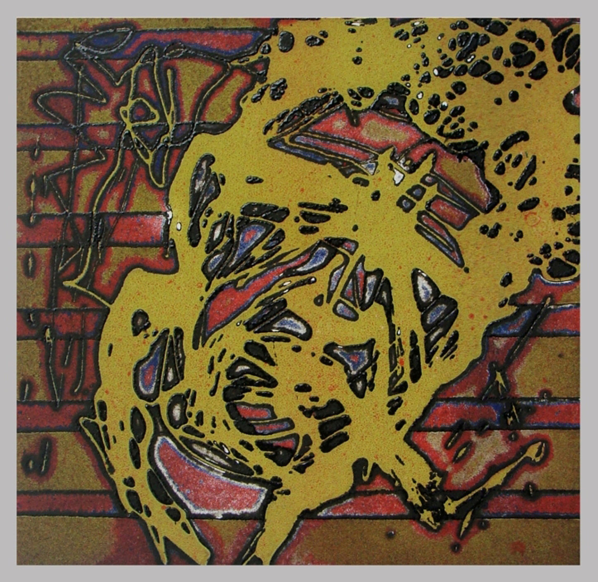 Untitled by Nagesh Gadekar, Abstract Printmaking, Etching on Paper, Brown color